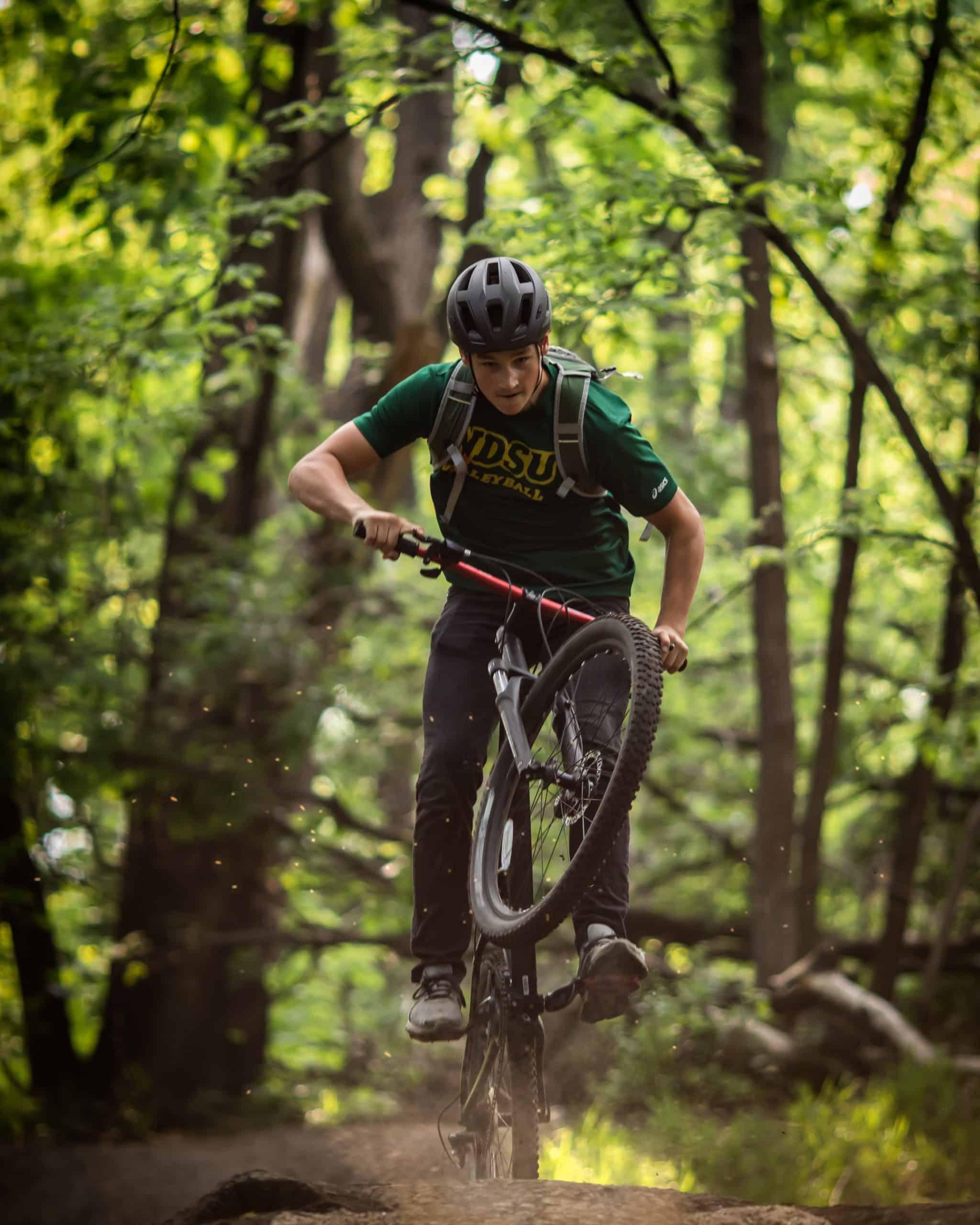 one alternative to a road bike is a mountain bike