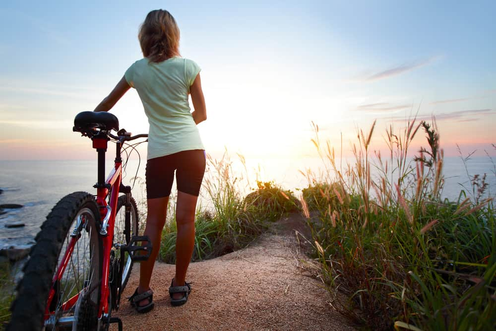 Image of girl with most comfortable bike seat