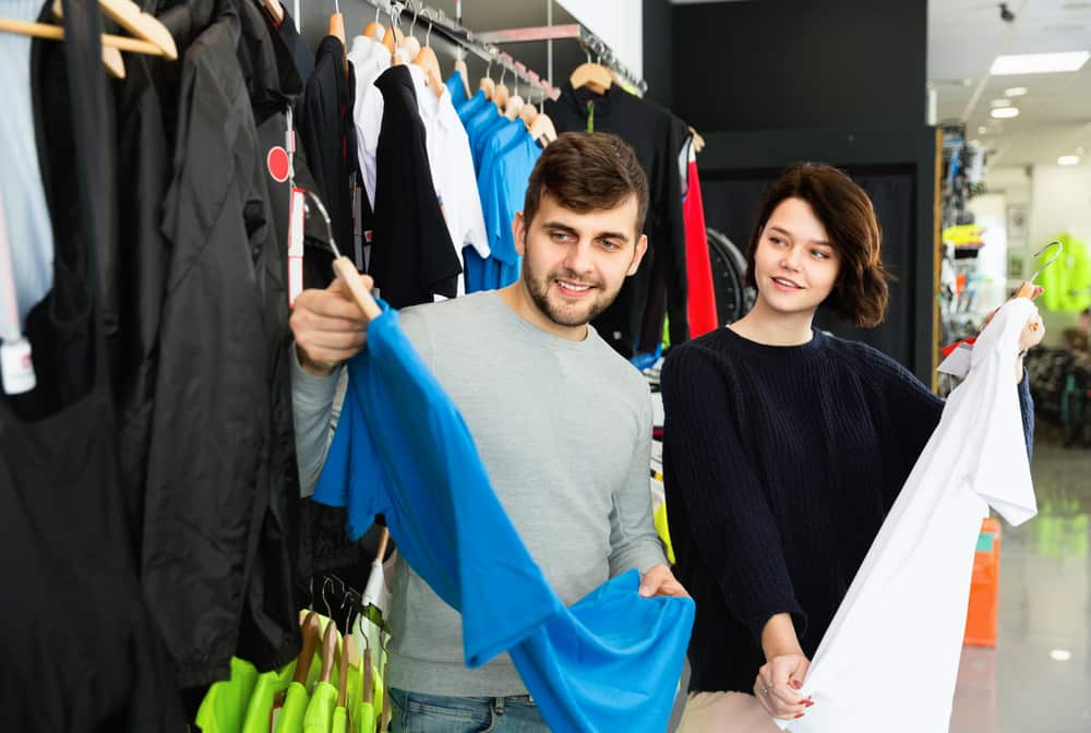Image of man and woman in best cycling baselayer store